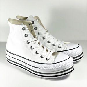 Women's Converse High Top Platform Shoes Size 7.5
